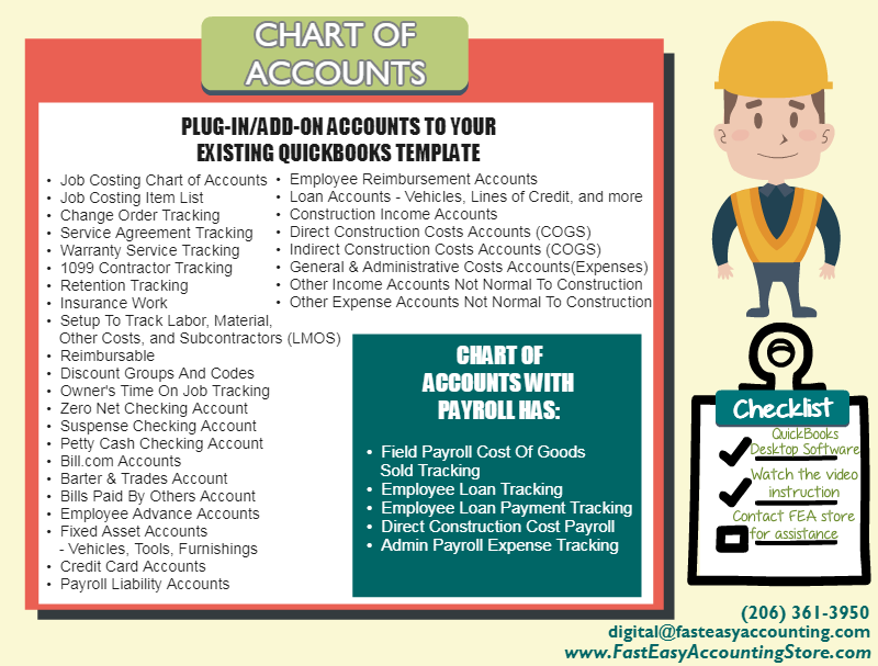 Chart Of Accounts For Canada Based Contractor