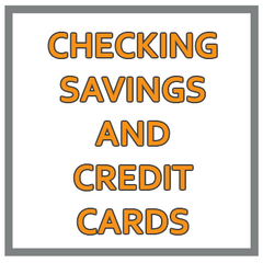 Checking Savings And Credit Cards