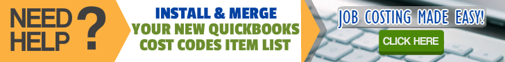 QuickBooks Cost Codes Item List Professional Installation