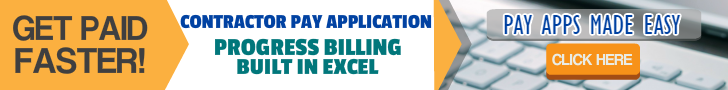 Contractor Payment Application (Excel)