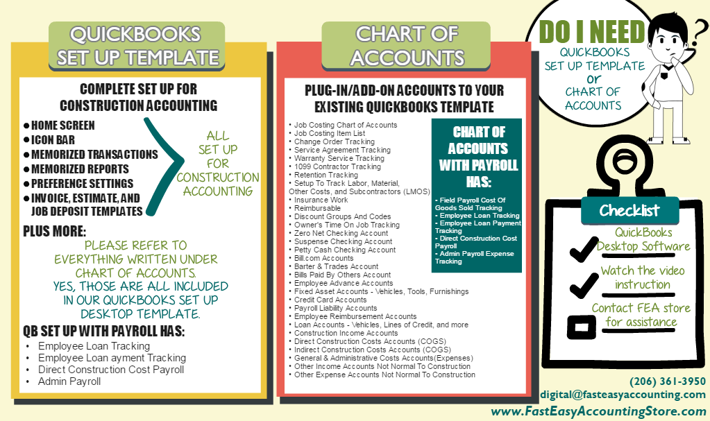 Contractor QuickBooks And Chart Of Accounts Info