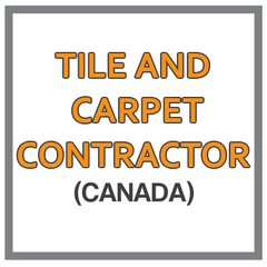QuickBooks Chart Of Accounts For Tile And Carpet Contractor Based In Canada