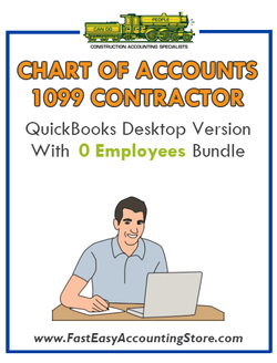 1099 Contractor QuickBooks Chart of Accounts Desktop Version With 0 Employees Bundle