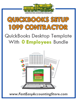 1099 Contractor QuickBooks Setup Desktop Template With 0 Employees Bundle - Fast Easy Accounting Store