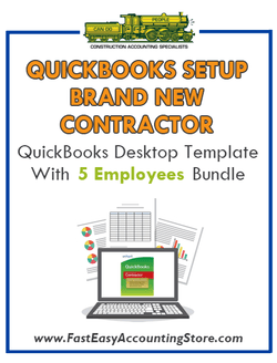 Brand New Contractor QuickBooks Setup Desktop With 5 Employees Bundle