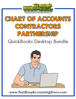 QuickBooks Chart Of Accounts For Contractors Partnership Desktop Bundle