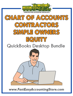 QuickBooks Chart Of Accounts For Contractors Simple Owners Equity Desktop Bundle