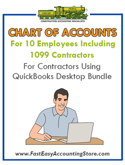 1099 Contractors For Contractors With 10 Employees Using QuickBooks Desktop Bundle - Fast Easy Accounting Store
