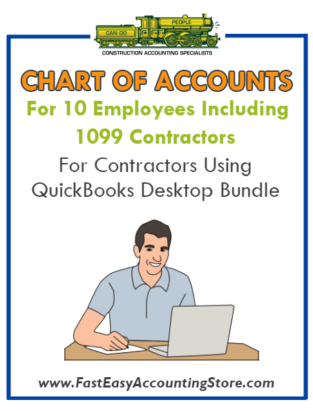 Chart Of Accounts For 10 Employees Contractors Using QuickBooks Desktop