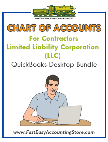 Chart Of Accounts Equity LLC QuickBooks Desktop Version Bundle