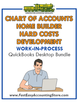 QuickBooks Chart Of Accounts Hard Costs Development For Home Builder (WIP) Desktop Bundle