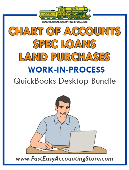 QuickBooks Chart Of Accounts Spec Loans Land Purchases (WIP) Desktop Bundle