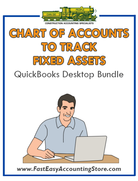 QuickBooks Chart Of Accounts To Track Fixed Assets Desktop Bundle
