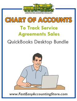 Chart Of Accounts To Track Service Agreements Sales QuickBooks Desktop Bundle