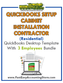 Cabinet Installation Contractor Residential QuickBooks Setup Desktop Template 0-3 Employees Bundle