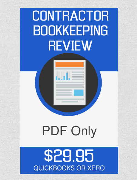 Contractor Bookkeeping Review (PDF Only - No Consultation) - Fast Easy Accounting Store