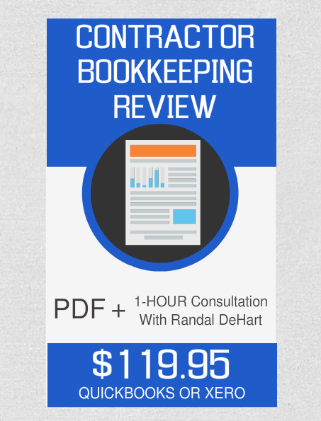 Contractor Bookkeeping Review And 1-Hour Consultation - Fast Easy Accounting Store