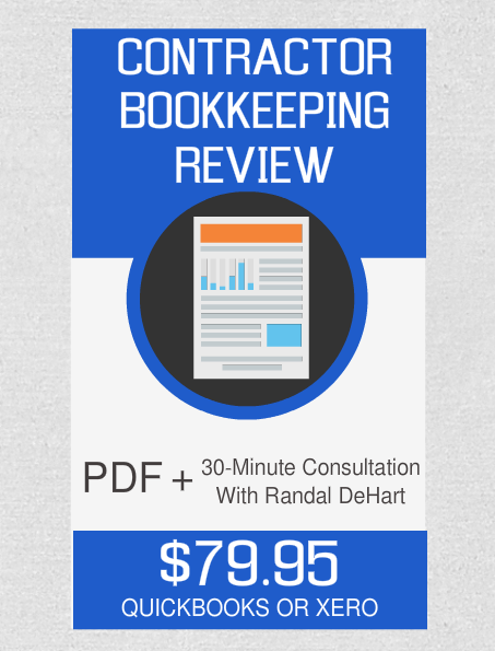 Contractor Bookkeeping Review And Consultation - Fast Easy Accounting Store