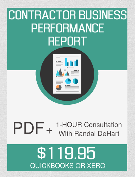 Contractor Business Performance Report And 1-Hour Consultation - Fast Easy Accounting Store