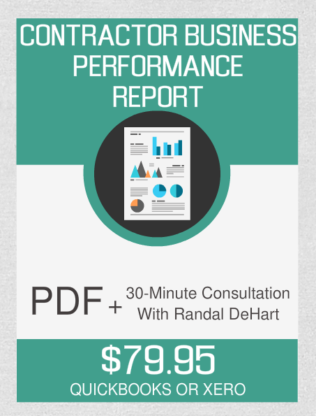 Contractor Business Performance Report And 30-Minute Consultation - Fast Easy Accounting Store
