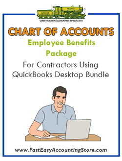 Employee Benefits Package Contractor QuickBooks Chart of Accounts Desktop Version - Fast Easy Accounting Store