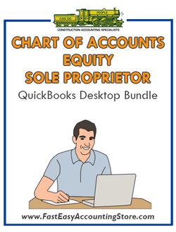 Equity Sole Proprietor QuickBooks Chart Of Accounts Desktop Bundle - Fast Easy Accounting Store