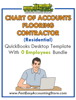 Flooring Contractor Residential QuickBooks Chart Of Accounts Desktop Version With 0 Employees Bundle