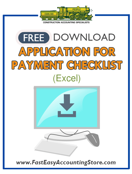 Free Contractor Application For Payment Checklist Excel Template - Fast Easy Accounting Store