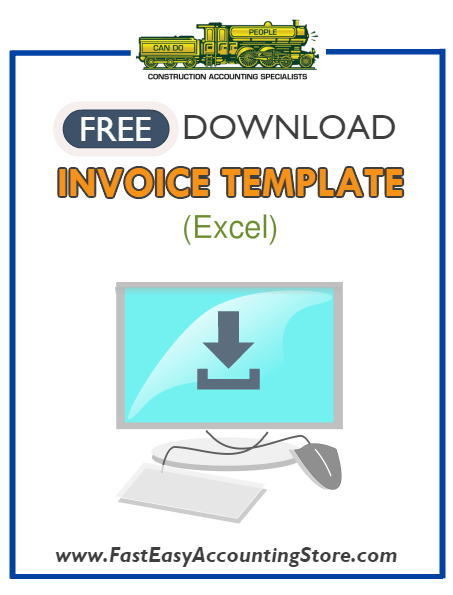 Free Contractor Invoice Excel Template - Fast Easy Accounting Store