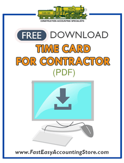 Free Contractor Time Card PDF Template - Fast Easy Accounting Store