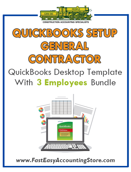 General Contractor QuickBooks Setup Desktop Template With 3 Employees Bundle