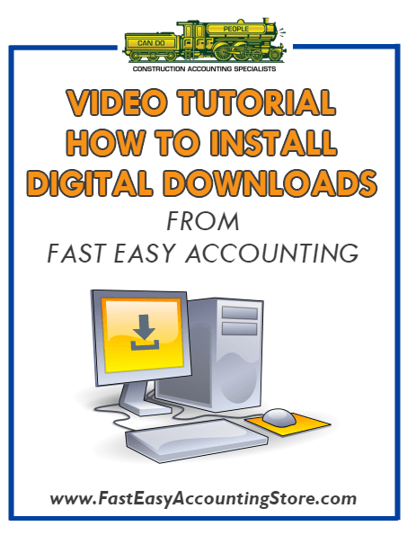 How To Install Digital Downloads From Fast Easy Accounting