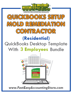 Mold Remediation Contractor Residential QuickBooks Setup Desktop Template 0-3 Employees Bundle