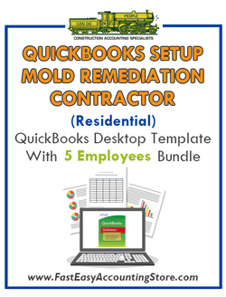 Mold Remediation Contractor Residential QuickBooks Setup Desktop Template 0-5 Employees Bundle