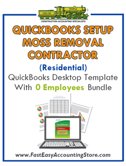 Moss Removal Contractor Residential QuickBooks Setup Desktop Template 0 Employees Bundle