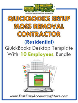 Moss Removal Contractor Residential QuickBooks Setup Desktop Template 0-10 Employees Bundle - Fast Easy Accounting Store