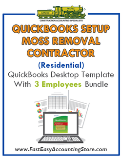 Moss Removal Contractor Residential QuickBooks Setup Desktop Template 0-3 Employees Bundle - Fast Easy Accounting Store