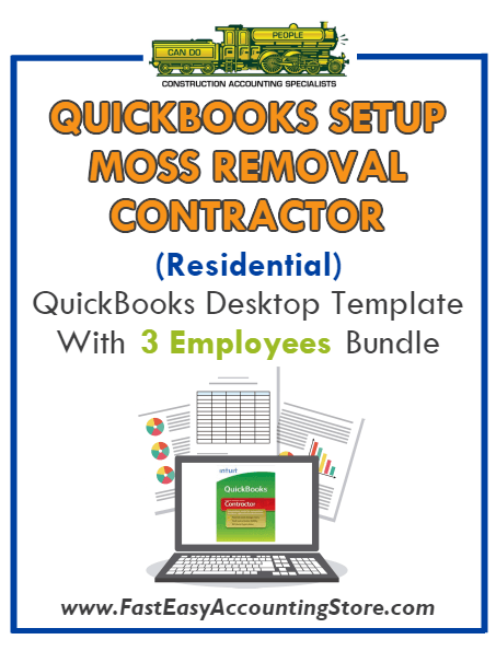 Moss Removal Contractor Residential QuickBooks Setup Desktop Template 0-3 Employees Bundle