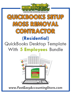 Moss Removal Contractor Residential QuickBooks Setup Desktop Template 0-5 Employees Bundle