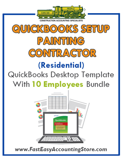 Painting Contractor Residential QuickBooks Setup Desktop Template 10 Employees Bundle