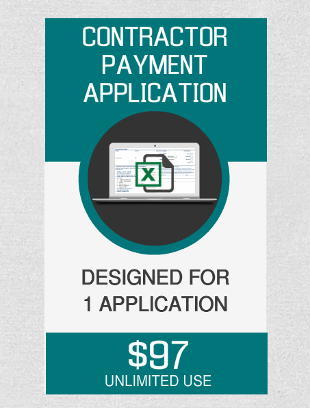 Contractor Payment (1) Application - Fast Easy Accounting Store