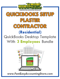 Plaster Contractor Residential QuickBooks Setup Desktop Template 0-3 Employees Bundle