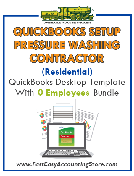 Pressure Washing Contractor Residential QuickBooks Setup Desktop Template 0 Employees Bundle