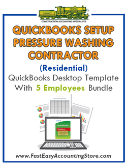Pressure Washing Contractor Residential QuickBooks Setup Desktop Template 0-5 Employees Bundle