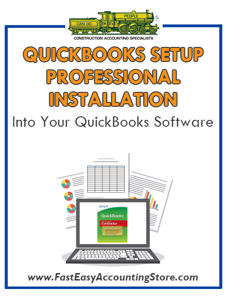 .Professional Installation Of QuickBooks Setup Template Into Your QuickBooks - Fast Easy Accounting Store