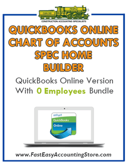Spec Home Builder QuickBooks Online Chart Of Accounts With 0 Employees Bundle - Fast Easy Accounting Store