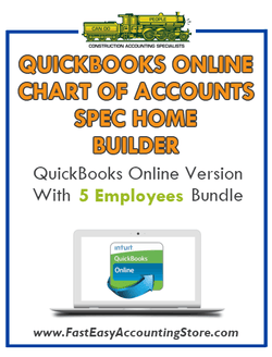Spec Home Builder QuickBooks Online Chart Of Accounts With 0-5 Employees Bundle - Fast Easy Accounting Store