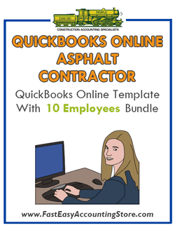 Asphalt Contractor QuickBooks Online Setup Template With 0-10 Employees Bundle - Fast Easy Accounting Store