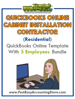Cabinet Installation Contractor Residential QuickBooks Online Setup Template With 0-5 Employees Bundle - Fast Easy Accounting Store