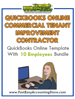 Commercial Tenant Improvement Contractor QuickBooks Online Setup Template With 0-10 Employees Bundle - Fast Easy Accounting Store